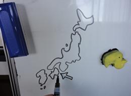 White board scribbles