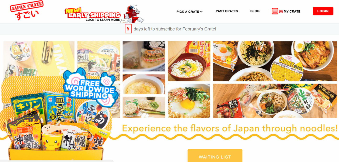 Ramen subscription box: Umai Crate